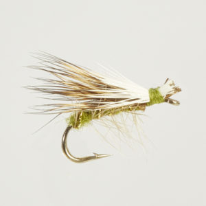 CADDIS (SEDGE)-ELK HAIR HI-VIS OLIV-0