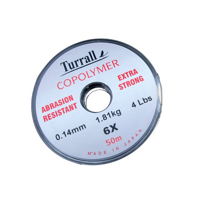 TURRALL CLEAR DOUBLE STRENGTH COPOLYMER FLY FISHING TIPPET MATERIAL-0